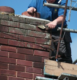 Repairing a chimney stack